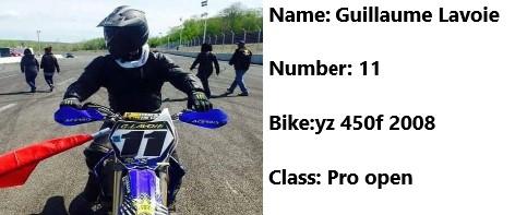 11 moto Guillaume Lavoie