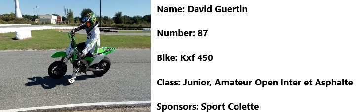 87 moto david guertin